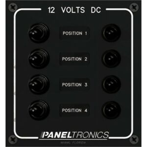New Paneltronics Waterproof Panel Dc 4 position Toggle Switch