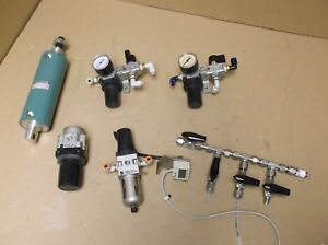Lab Lot Smc Pneumatic Regulators Cylinder Manifold Etc Smc Zse4 01 25