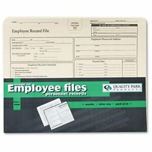 Quality Park Top tab Employee Record Folder Letter 8 50 Width X 11 Length