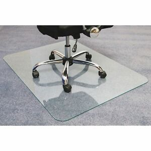 Cleartex Glacier Glass Chair Mat Hard Floor Home Office Carpet 123648eg