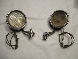 1930 S Car Cowl Lights In Good Condition