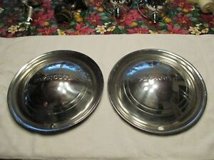 1949 And 1950 Plymouth Hub Caps In Good Condition