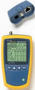 Fluke Networks Microscanner2 Cable Verifier Rj 45 10 100 1000base t ms2100