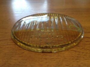 Early Guide 5 3 4 Amber Glass Lens Vintage Auto Lamp Light 924317