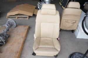 2006 Bmw 750i Front Right Passenger Side Seat Leather Beige X8326