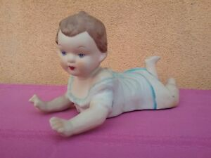 Vintage Victorian Early 1900 Piano Baby 10 Antique Bisque Porcelain Doll Noveau