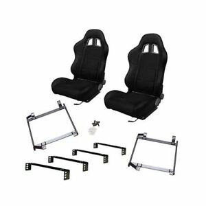 Summit Sport Seat Combo Dial Recliner Blk Fabric Cover Chevy Pr Csum4021