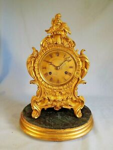 Fine Quality French Ormolu Clock Of Small Size C1860