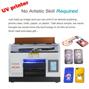 A4 Uv Printer 6 Color For Phone Case Glass Metal Wood Badge Signs 3d Embossed