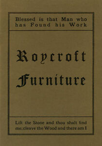 Roycroft Furniture Catalog Reprint New Direct From Publisher