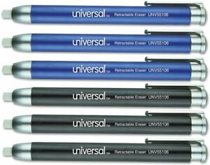 Universal Office Products Unv55106 Pen style Retractable Eraser Blue black