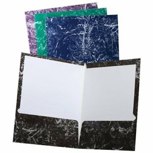 Oxford 50190 Marble Laminated Twin Pocket Folder Letter 8 50 X 11 2