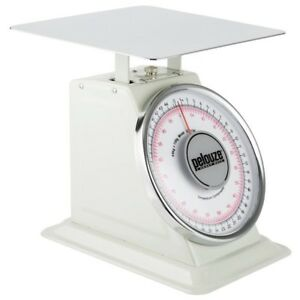 Pelouze Heavy duty Platform Scale 10100 Analog Dial 100 Lb Max Stainless Steel