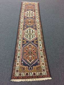 On Sale Great Hand Knotted Persian Rug Ardabil Geometric Carpet Runner 2 X8 9