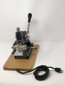 Kingsley Hot Foil Stamping Machine M 50 Typeset Fonts Foil accessories