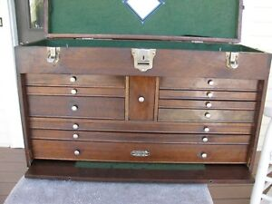Gerstner 052 Usa Walnut Machinist Wood Tool Chest Box