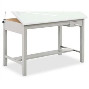 Safco Precision Drafting Table Base 35 5 Height Steel Gray 3962gr