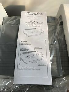 Swingline 50 sheet 350md Electric Three hole Punch 9 32 Holes Gray 9800350a