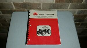 Large Oem 1995 Massey Ferguson Farm Tractor Service Training Manual Book