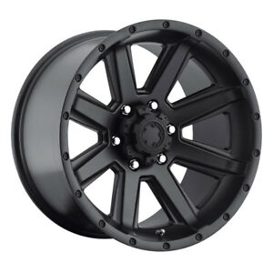 4 New 17x8 Ultra 195sb Crusher Black Wheels Rims 25 6x135