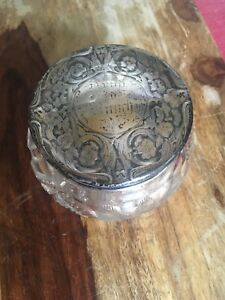 Large Blackington Sterling Silver Ornate Vines Repousse Top Dresser Jar Abp