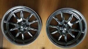 2x Ridler 18 650 Wheels Grey polished Lip 18x8 5x5 5x127 0mm 4 5