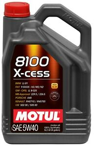 Motul 8100 X Cess Synthetic 5w40 Engine Oil 5l 5 Liter