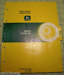 John Deere 1600 Series Chisel Plow Parts Catalog Manual Pc 1264