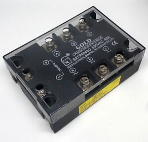 Three Phase Solid State Relay 40amps 3 32vdc in 40 530vac out satp4040d