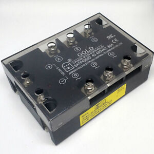 Three Phase Solid State Relay 60amps 3 32vdc in 40 530vac out satp4060d