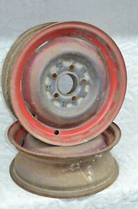 2 1953 Dodge Truck 15 Wheels Rims Chrysler Plymouth Chevy 1942 54 5 Lug 6 Oem