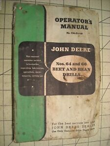 John Deere 64 66 Beet Bean Drill planter Operators Manual Om d3 149