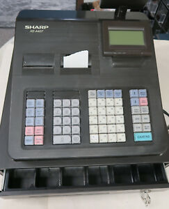 Sharp Xe a407 Electronic Cash Register W cash Drawer Lcd Screen Keys