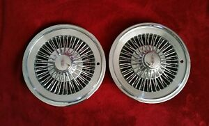Oldsmobile Wire 15 Hubcaps Spoke Wheel Covers 1972 1973 1974 1975 1976 1977