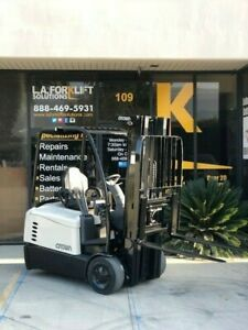 1998 Crown Reach Rr5020 35 Forklift Used