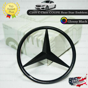 Mercedes Benz W205 Glossy Black C Coupe Star Emblem Rear Trunk Lid Logo