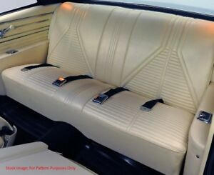 1967 Buick Skylark Gs Special Deluxe Coupe Rear Seat Cover
