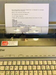 Brother Gx 6750 Daisywheel Portable Electric Typewriter Tested And Working