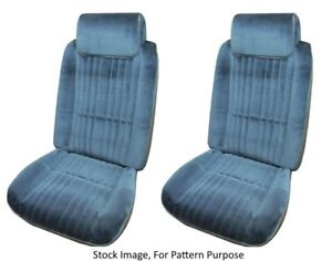 1985 1988 Oldsmobile Cutlass Supreme 442 Bucket Front Seat Cover Pair