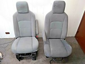 Left And Right Front Seats E350 Cloth Seats Used Fair Condition 9368