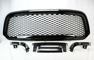 Front Upper Gloss Black Honeycomb Mesh Style Grill For Ram 1500 2013 2017