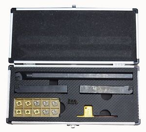 Metal Lathe Cutting Tool Set Indexable Carbide Sized For Bxa Toolpost Ccgt Ccmt