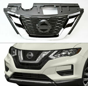 Chrome Front Replacement Upper Hood Grill For Nissan Rogue 2017 2018
