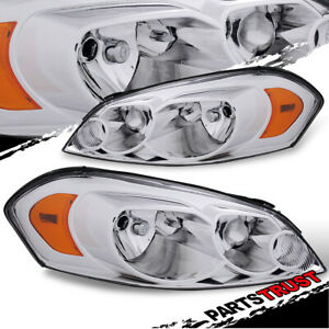 2006 2013 Chevy Impala monte Carlo Headlights Pair 2007 2008 2009 2010 2011 2012