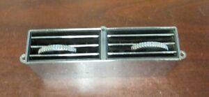 Vintage Used Chrome Center Of Dash Air Condition Vent Register Assembly