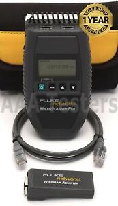 Fluke Networks Microtest Microscanner Pro Network Cable Tester Verifier