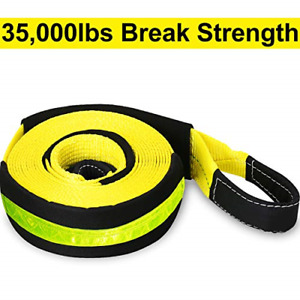 Trekassy Recovery Tow Strap Heavy Duty 3 X 30 Ft 35 000lb With Loops And Line