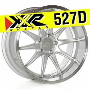 Xxr 527d 18x10 5 5x114 3 20 Silver Wheels Set Of 4