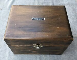 Vintage Finger Jointed Wooden Box And Sewing Kit