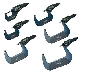 Igaging 0 6 Digital Electronic Outside Micrometer Set 0 1 1 2 2 3 3 4 4